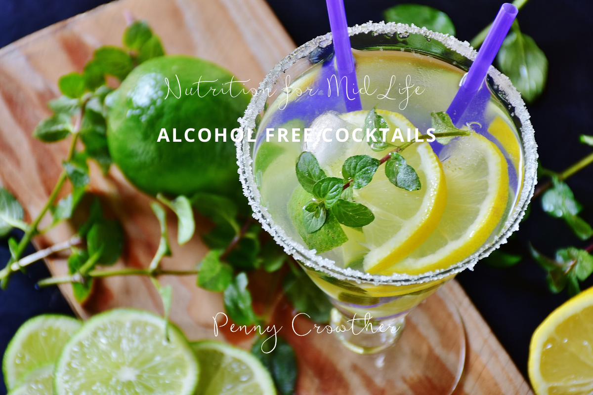 Alcohol free cocktails Penny Cr owther Nutritionist London